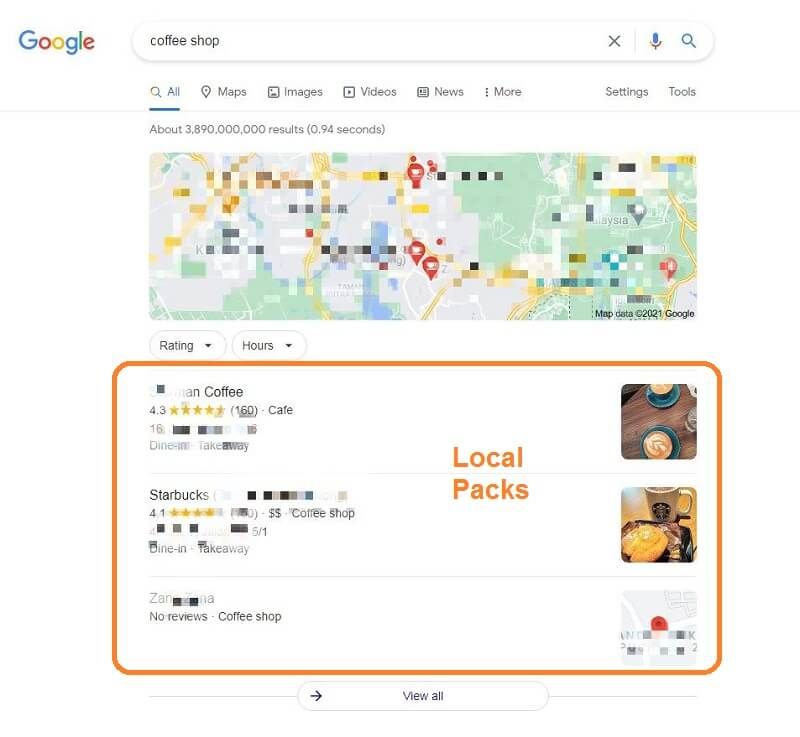 Google local packs